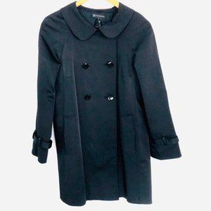 INC. Black Midi Double Breasted Trench Coat
